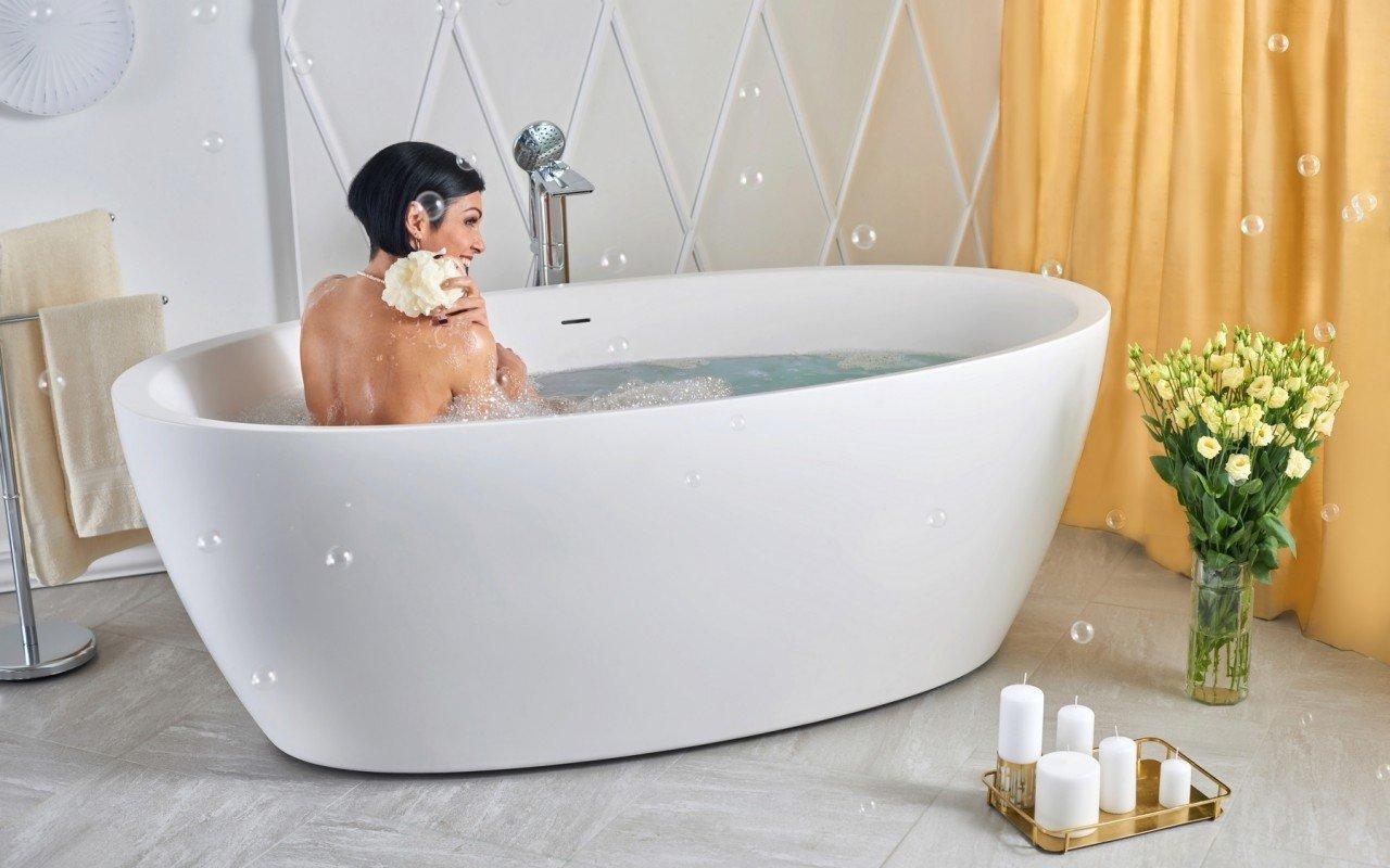 Sensuality-Wht par Aquatica® baignoire autoportante en pierre AquateX picture № 0