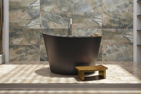Aquatica True Ofuro Black Tranquility Heated Japanese Bathtub 01