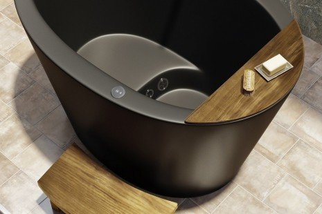Aquatica True Ofuro Black Tranquility Heated Japanese Bathtub 03