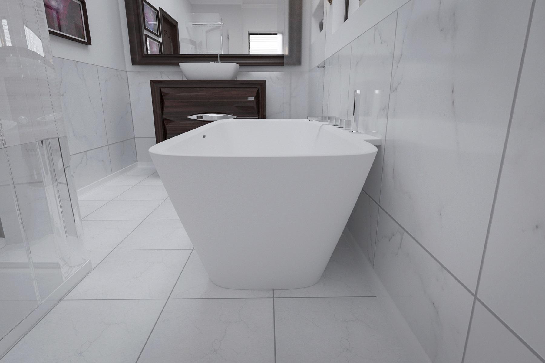aquatica arabella wall baignoire contre le mur surface solide. Black Bedroom Furniture Sets. Home Design Ideas