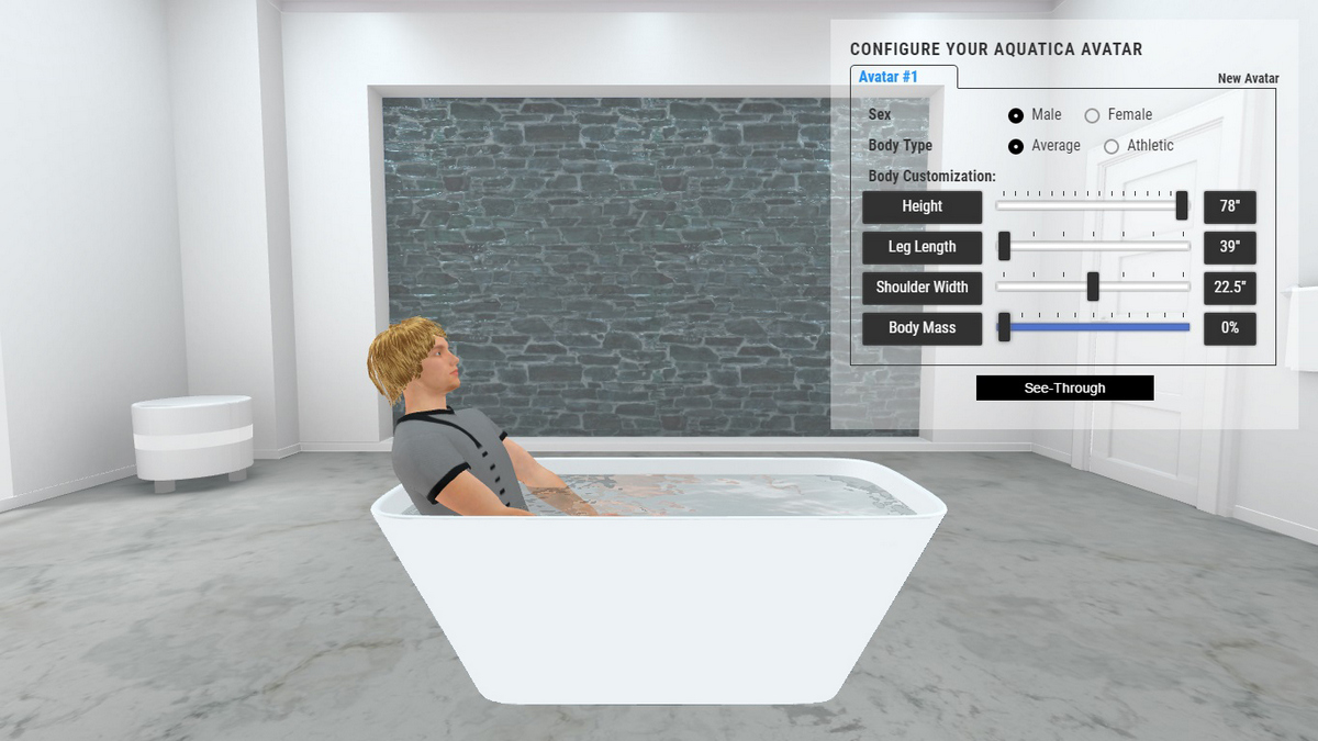 Arabella2 Bathtub 3D Body Position