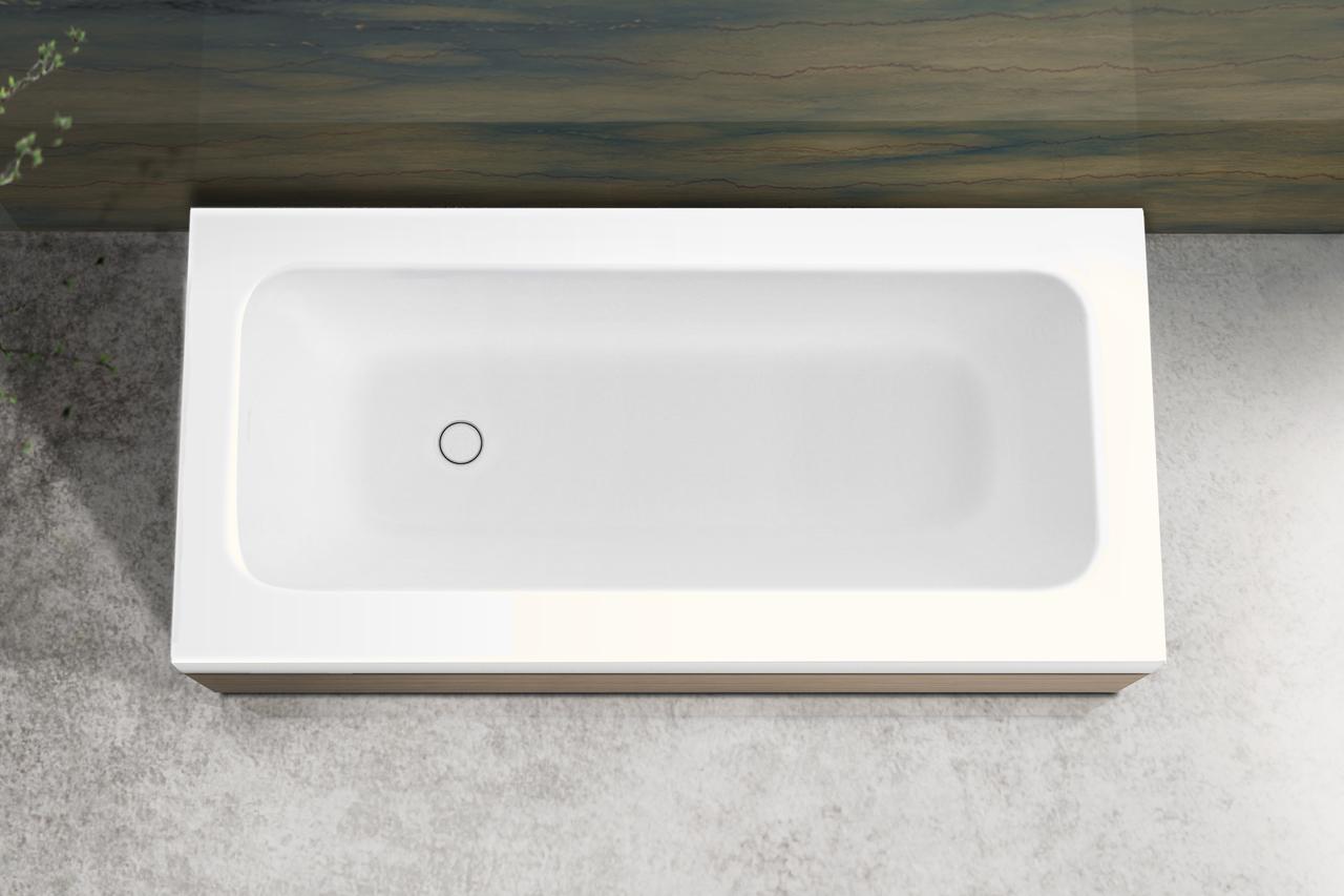 Pure 1l par aquatica baignoire en pierre avec panneaux for Prix baignoire en pierre