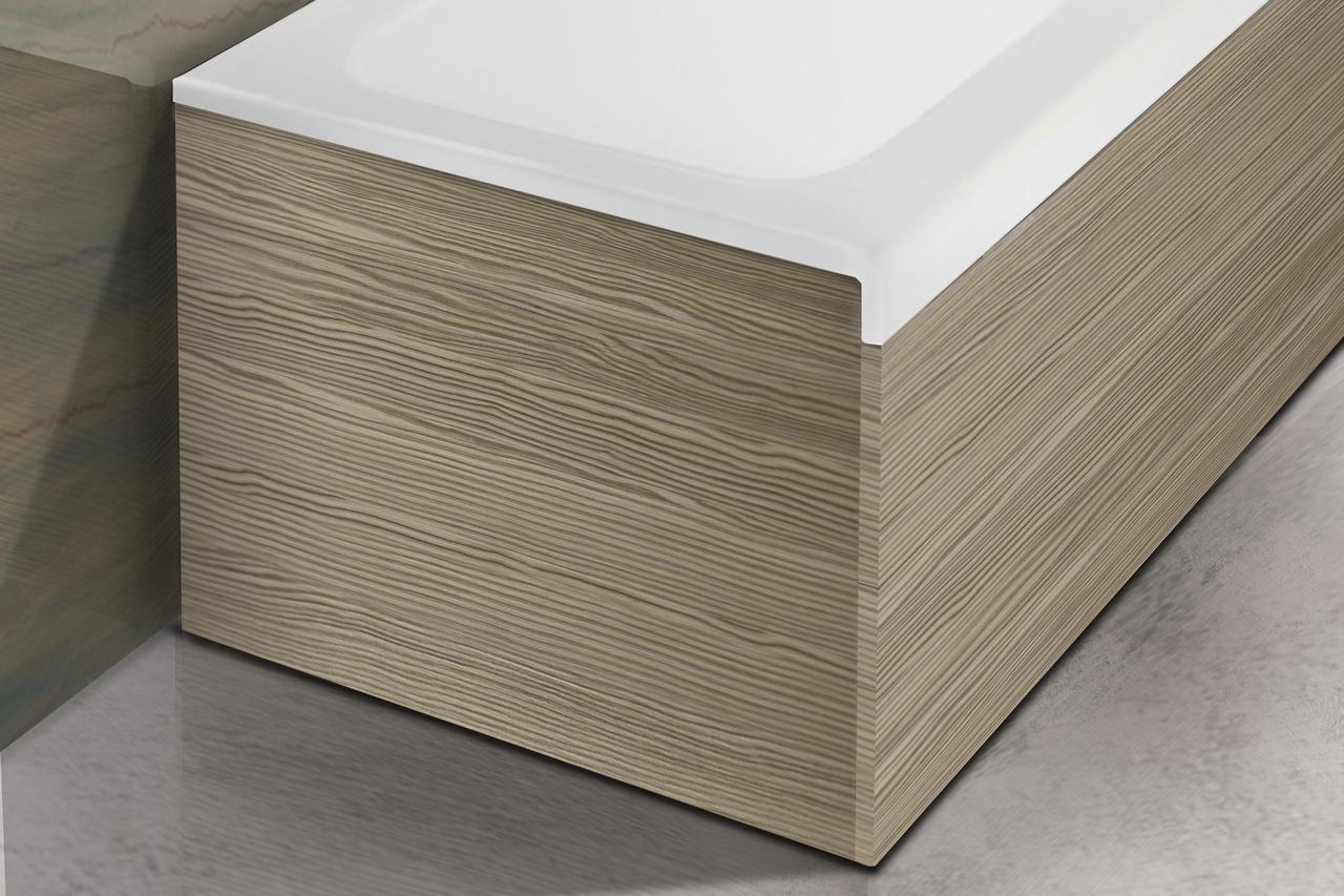 aquatica pure 1l baignoire pleine surface avec panneaux lat raux en bois d coratifs. Black Bedroom Furniture Sets. Home Design Ideas