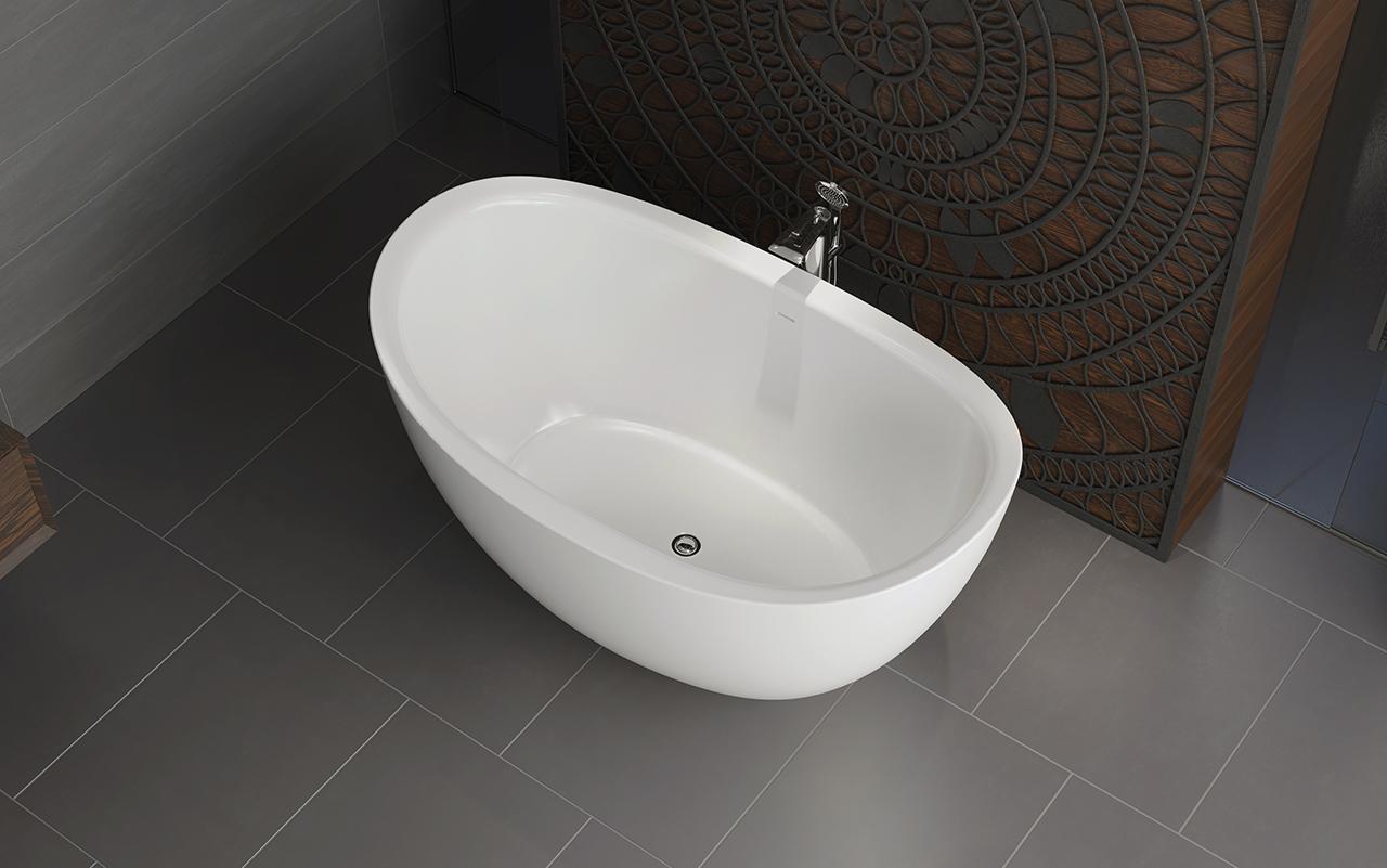 aquatica purescape 171 mini baignoire autoportante en pierre fonte brillant. Black Bedroom Furniture Sets. Home Design Ideas