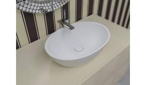 Aquatica Sensuality-Wht™ Lavabo-vasque en pierre