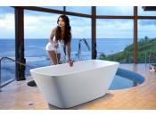 Arabella-Wht par Aquatica® baignoire autoportante en pierre