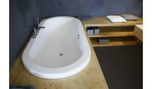 Aquatica Carol-Wht™ Baignoire au sol VelveX™ - Mat Fin