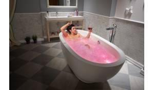Aquatica Karolina™ Relax Solid Surface Air Massage Bathtub - Fine Mat